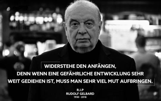 Wir trauern um Widerstandskämpfer Rudolf Gelbard