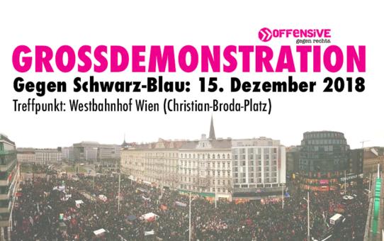 Großdemonstration gegen Schwarz-Blau