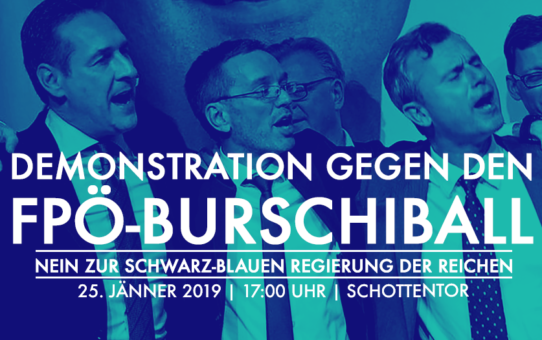25.01.2019: Demonstration gegen den FPÖ-Burschiball