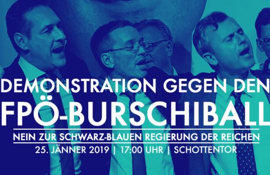 25.01.2019: Demonstration gegen den FPÖ-Burschiball